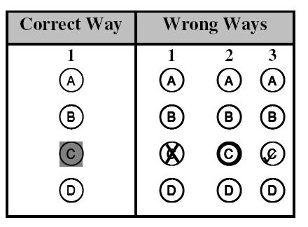 Each MCQ has four options; A, B, C and D.