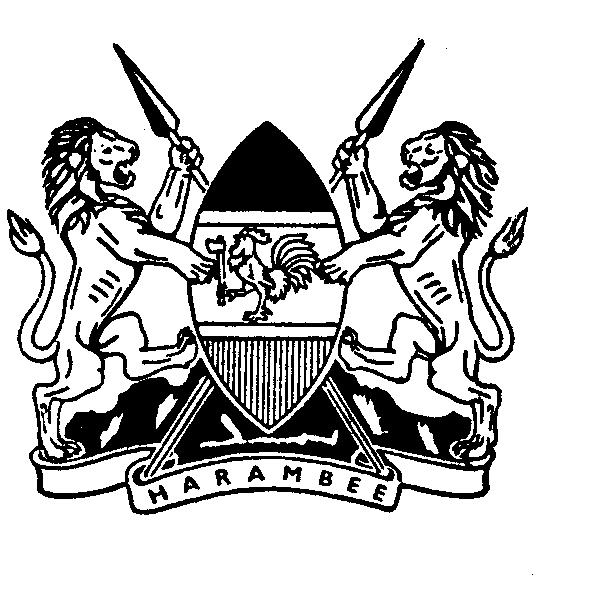 SPECIAL ISSUE THE KENYA GAZETTE Published by Authority of the Republic of Kenya (Registered as a Newspaper at the G.P.O.) Vol. CXV No. 23 NAIROBI, 15th February, 2013 Price Sh. 60 GAZETTE NOTICE NO.