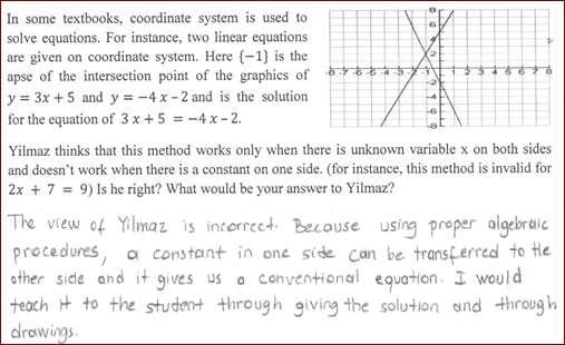 However, the explanation has nothing to do with the mathematical content. Third item In
