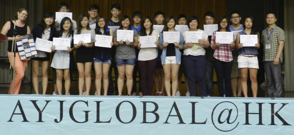 AYJGlobal Senior English Page 3 I can t believe the four weeks are already over. I had such an amazing time! I want to thank my students for truly making my stay in Hong Kong incredible.