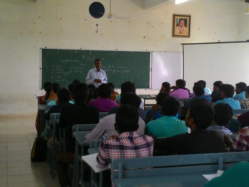 Industry School of Management Studies organized a Seminar on Entrepreneurship on 18-08-2015. The resource person K.