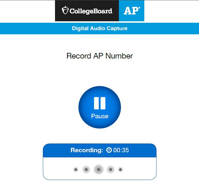 Recording and Uploading Responses Students are required to record their AP number. This process is directed by the proctor following the AP Exam Instructions. 6.