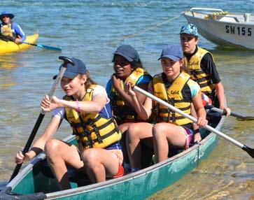 When we first arrived we learnt about water safety, then came the fun part of the day; kayaking, sailing and canoeing.