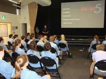 Student Reading Program Year 11 students attended a very informative SAPOL Road Safety Presentation.
