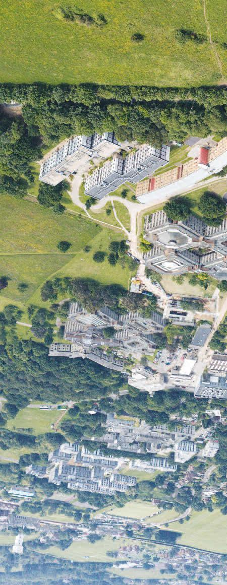 208 University of Kent / Undergraduate Prospectus 2019 CANTERBURY CAMPUS FROM THE AIR The Canterbury campus is built on 300 acres of parkland, overlooking Canterbury Cathedral, and is only a