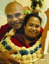 Appendix 1 JONA BOLA Friday, November 02, 2007 Losalini, 29, is proud dux Losalini Mawi is congratulated by husband Timoci Mawi after she was named dux at the Nabua Secondary School Form Seven