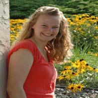 distinction, member of National honor society, volunteer work Future Plans: Attend Gustavus Adolphus College and major in athletic training while playing softball Boosters: Alyssa McKee Ellen Degler