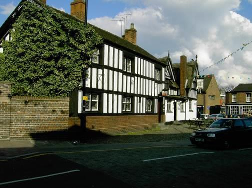 BLACK BEAR HOTEL (Ye Olde Black Beare Inn) Built in 1634, it has been owned by Lord Crewe and is the only building in Sandbach to have a thatched roof.