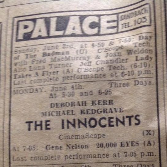 In 1966 the Palace was still showing the latest films to the people of the town.