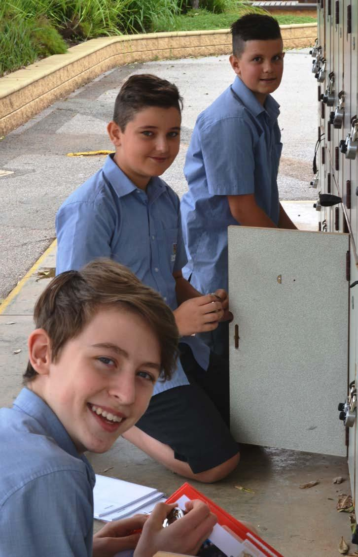 Connor, Year 7, with Antonio and Charlie I ve enjoyed the change of scenery and trying new