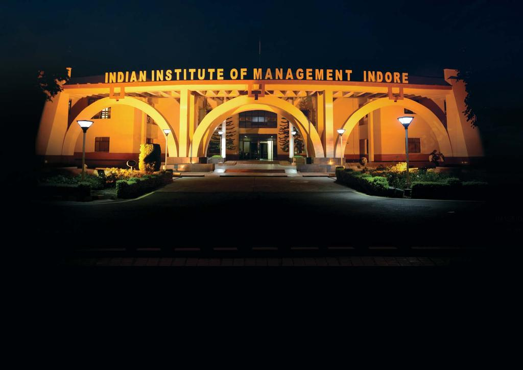 ABOUT IIM INDORE: With the objective of imparting high quality management education and training, the Department of Higher Education, Ministry of Human Resource Development, Government of India