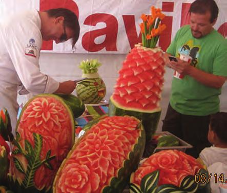 The first known melon harvest was roughly 5,000 years ago in Egypt, according to Internet Fun Facts, and is seen in