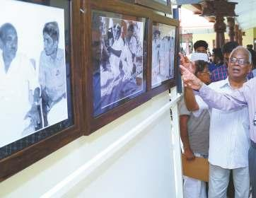 He exhibited rare photographs of 60 literary personalities in Kerala which captured e