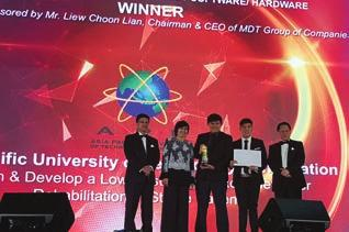 MAKING HISTORY - AWARDS AND ACHIEVEMENTS ASIA PACIFIC ICT AWARDS (APICTA) MALAYSIA (MULTIMEDIA DEVELOPMENT CORPORATION) 2016 - Top Award for Best of Tertiary Student Project 2013 - Top Award for Best