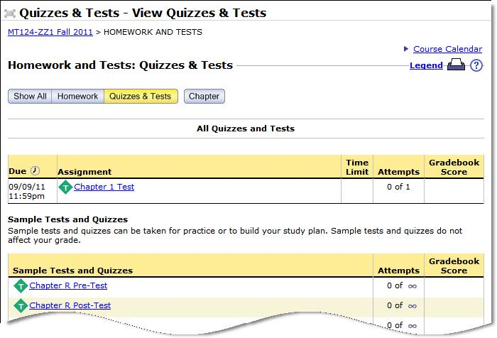 Sample Tests If you want to practice before taking a test click or click, then click Sample Tests (as shown).