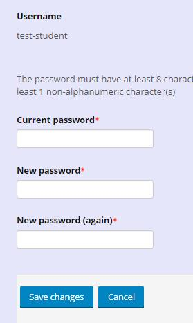 4.5. Input your New password in the respective fields.