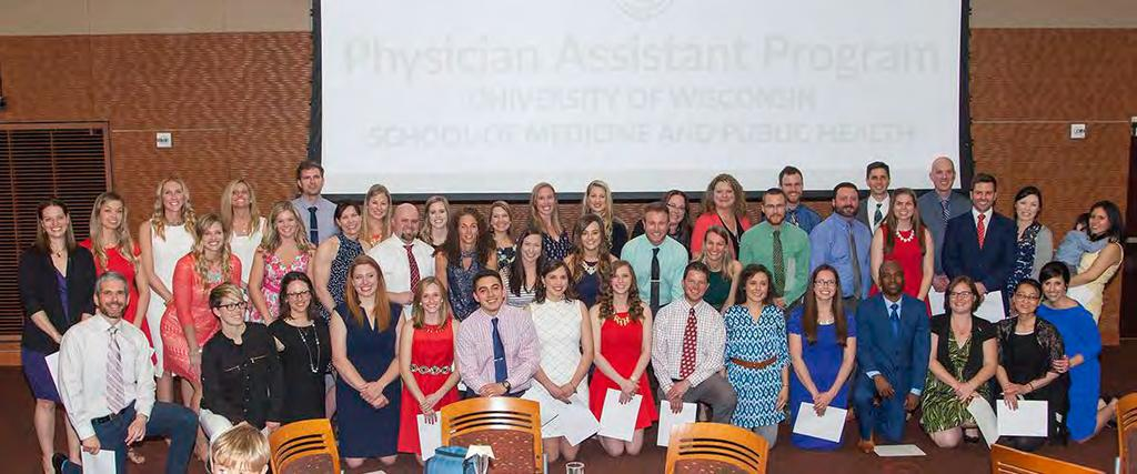 2.4. PHYSICIAN ASSISTANT PROGRAM FY17 KEY FACTS LEADERSHIP 105 students in two- and three-year campus- and community-based tracks 45 graduates received a Master of Physician Assistant Studies (MPAS)