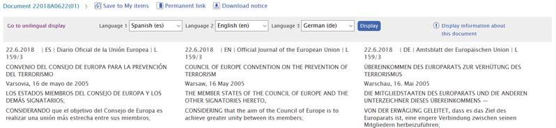 legal language users. EUR-Lex is a corpus that contains EU public documents (regulations, directives, decisions, etc.).