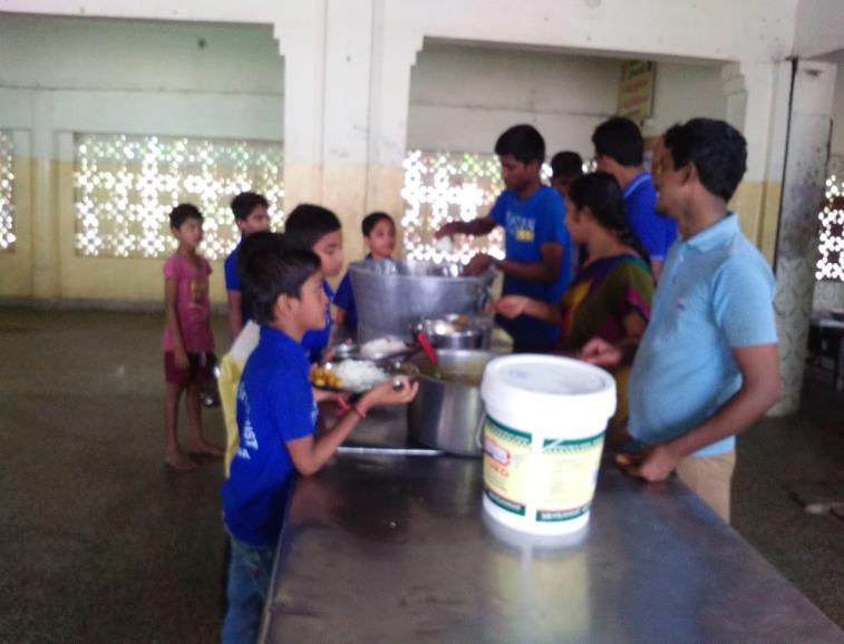 the eve of Birthday of Puja Sri. Children conveyed Birthday wishes to her. Children enjoyed the cooked breakfast.