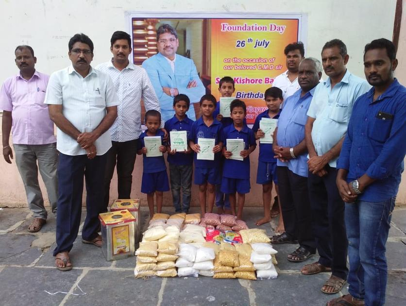 26.7.2018: M/s Power Mech Foundation, from Nirmala High School Road, Vijayawada visited and provided