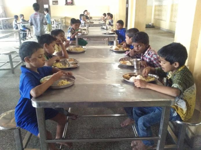provided cooked lunch to our children at Premvihar Boys Home in memory of