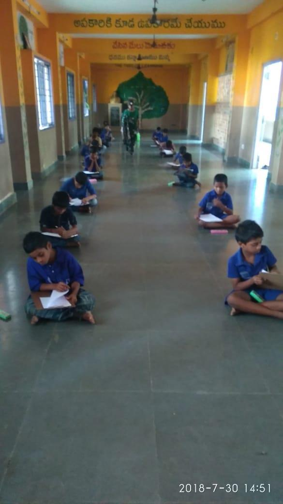 30.7.2018: Our Vidhyavihar School staff conducted English and hand writing