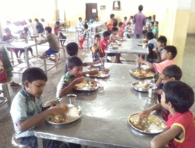 provided special lunch to our children at Premvihar Boys Home on the