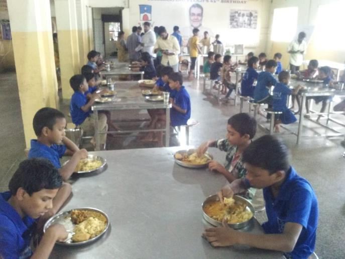 provided cooked lunch to our children at Premvihar Boys Home on the eve of