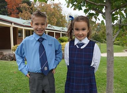 Isabella, Prep and Aiden, Year 1 are both very happy to be at school with their big