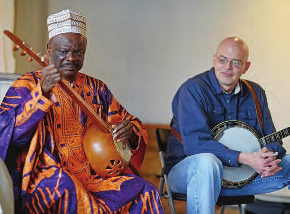 From Africa to Appalachia BY JON LOHMAN When master Malian griot Cheick Hamala Diabate joined two of Virginia s finest traditional musicians, Sammy Shelor and Danny Knicely, in Charlottesville for