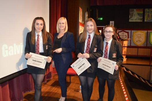 Sibbald, 3 rd Robbie Thompson Year 10: 1 st Caitlin Beevers, 2 nd Avril Bowler & Katie Minchella, 3