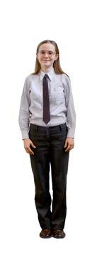 grey trousers Tie (compulsory on all designated formal occasions eg.