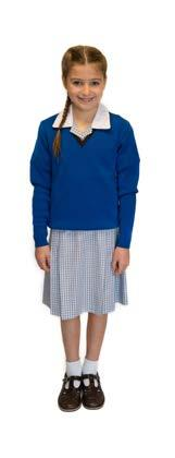 Junior School Assemblies) Tailored skirt (optional Years 3 6) or tailored grey trousers jill blouse (short sleeved shirt) cobalt blue V-neck sleeveless vest brown gloves