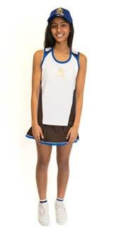 athletics shorts athletics singlet hockey or football socks netball