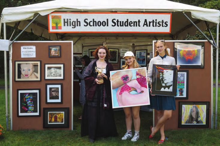 In recent years, the show has hosted a tent for local high school artists, who, like other participating artists, must be juried into the show, giving them a glimpse of the professional art world.