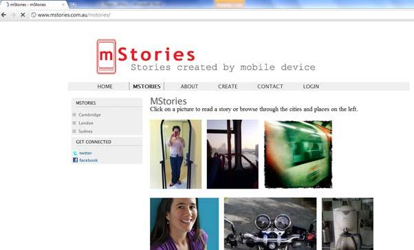 Figure 1. mstories Website, www.mstories.com.
