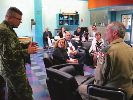 As for Minister MacLeod, having come from a military family, she noted that she understood some of the sacrifices made and was eager to learn more about how her ministry could help.
