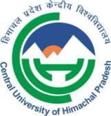Central University of Himachal Pradesh (ESTABLISHED UNDER CENTRAL UNIVERSITIES ACT 2009) PO Box: 21, Dharamshala, Himachal Pradesh-176215 COE/2-1/CUHP/2017 DATED: 27.07.