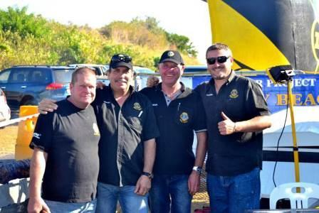 CLUB PROJECTS, FUNDRAISERS AND NEWS SHELLY BEACH LP CLINT BARCLAY, FUNDRAISING DIRECTOR CHARLES TAYLOR, TREASURER ISMAEL DE PINHO AND LION BRAD VISSER The Shelly Beach Lions Club once again stepped