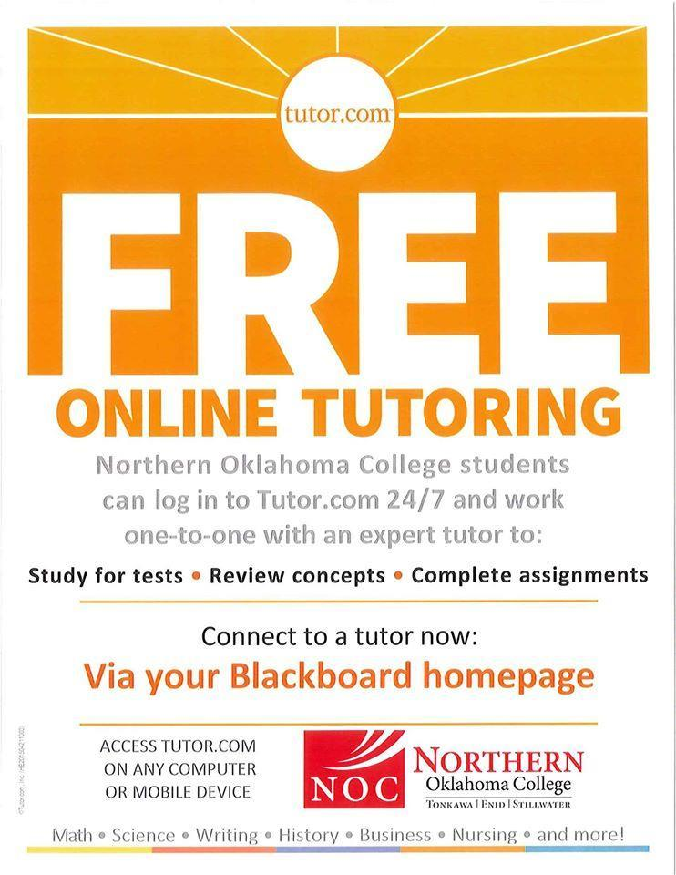 Free online tutoring available to NOC students The NOC What s Happening is published weekly (normally on Fridays) by Northern Oklahoma College, Public Information Office, except when the NOC offices