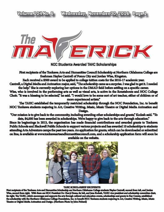 Click on the image above to view the Nov. 30 issue of The Maverick online.