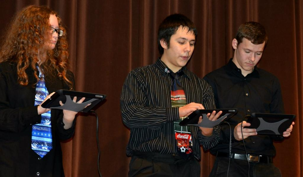 Music Tech iband (Amanda Brandon) Riverside s music technology class made their debut with the iband during the Winter Concert at the Junior-Senior High School on Monday, December 15. Mrs.