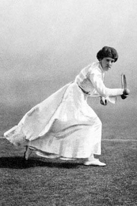"GRADE 5: MODULE 3A: UNIT 1: LESSON 1 Images and Text for Gallery Walk Dorothea Douglass ""Dorothea Douglass: 1903 Wimbledon and Olympic Games Tennis""Published before 1923 and public domain in the US."