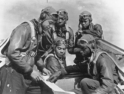 The Tuskegee Airmen The First Tuskegee Veterinary School Faculty Members The Saul T. Wilson, Jr. Scholarship Program in Veterinary Medicine and Biomedical Sciences-USDA Veterinary Class 1945.