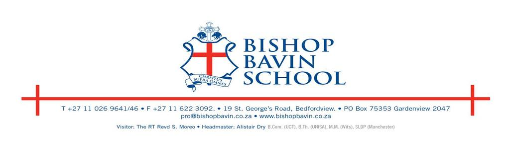 BISHOP BAVIN SCHOOL POLICY ON LEARNER DISCIPLINE AND DISCIPLINARY PROCEDURES 1.