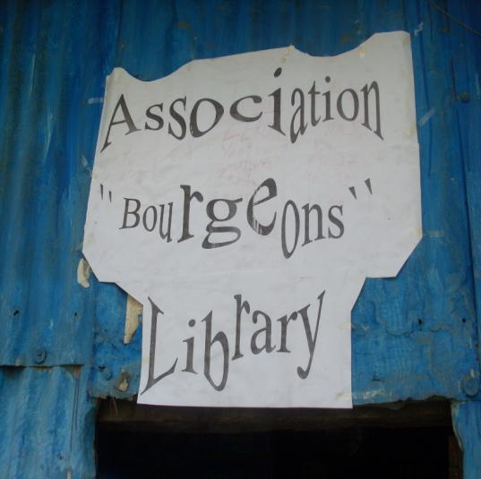 Project to build a new library: ( Association Bourgeons Library ) Our ambition for this school is still doing more (if we can...). Unfortunately, our small budget doesn t allow us to go ahead.
