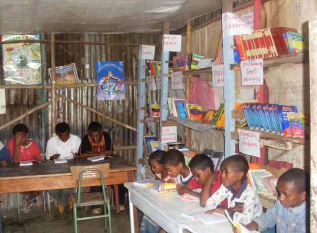 We have done especial fundraising to buy some books (School books, fictions in Amharic and English etc.