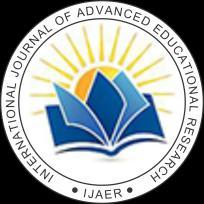 International Journal of Advanced Educational Research ISSN: 2455-6157; Impact Factor: RJIF 5.12 www.educationjournal.org Volume 1; Issue 5; September 2016; Page No.
