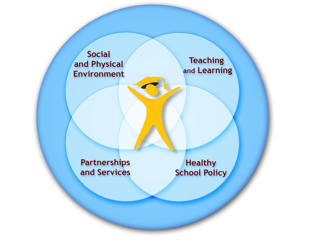 JCSH Schools as a Setting for Promoting Positive Mental Health:Better Practices and Perspectives The comprehensive school health framework involves a whole school approach that includes four