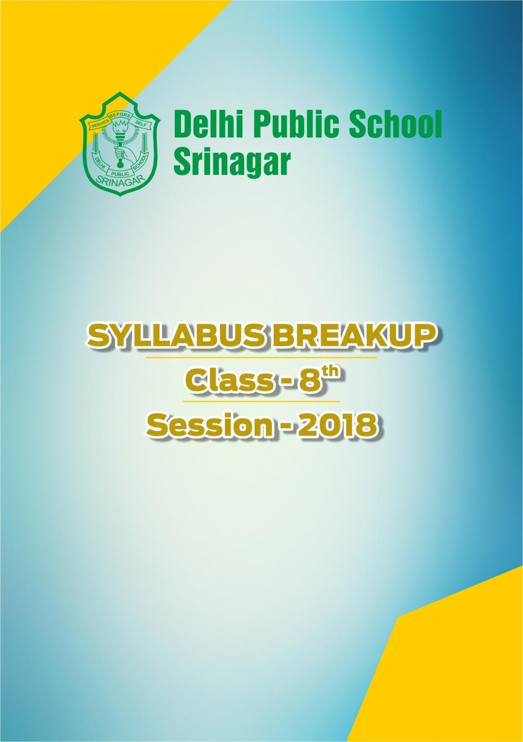 Delhi Public School Srinagar 1 Syllabus Breakup Pdf